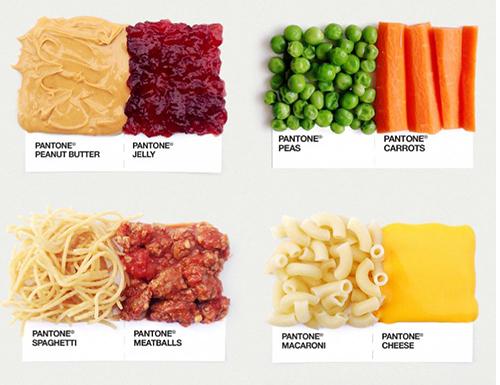 پنتون و رنگهای غذایی