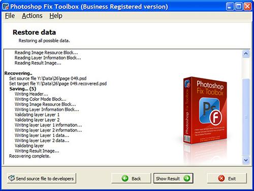 تعمیر فایلهای فتوشاپ