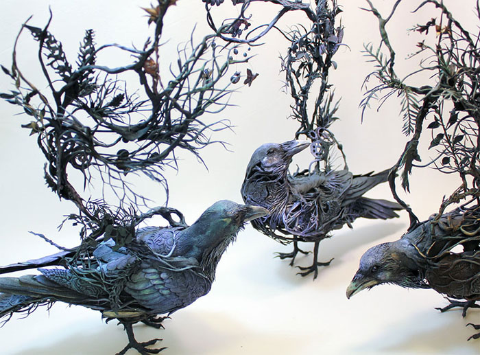 مجسمه سازی خلاقانه از گیاه و حیوان