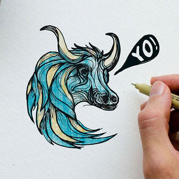 استعفا از دنیای طراحی صفحات وب تا نقاشی خلاقانه از حروف لاتین