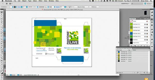 انتخاب رنگ در بسته بندی و طراحی با پلاگین پنتون