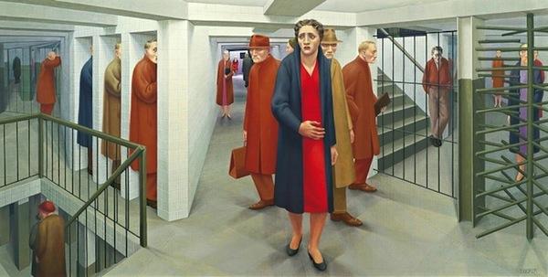 ژرژ توکر ، مترو - فیگوراتیو های رئالیست - اکسپرسیونیسم در آثار هنرمندان