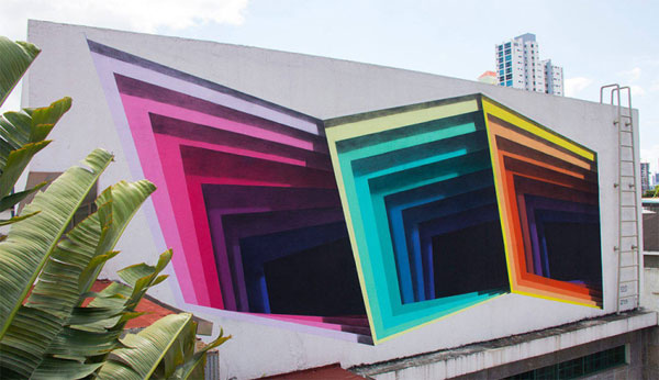 گرافیتی های سه بعدی در دیوارهای پاناما