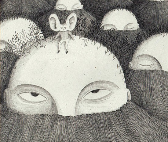 تصویرسازی کتاب کودکان با نام صداخور