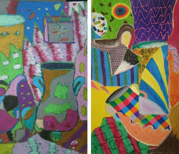 نقاشی از دستانی کوچک و هنرمند همراه با الهام حمیدی