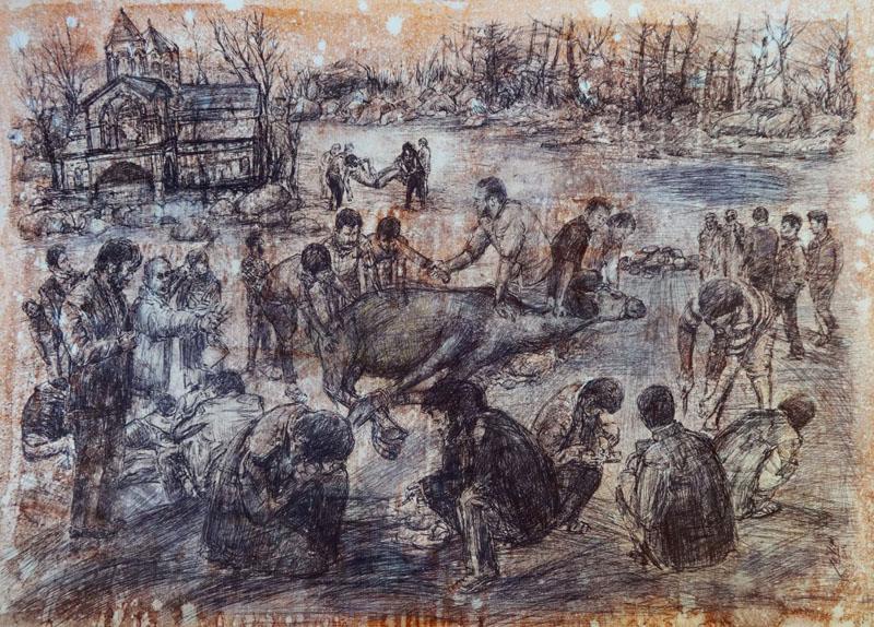 اسماعیل قنبری - نمایشگاه چند روایت از یک انسان که با امواج ارس به دریا پیوست