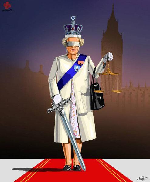 بریتانیا - حقوق بشر در نگاه طنز گوندوز آقایف