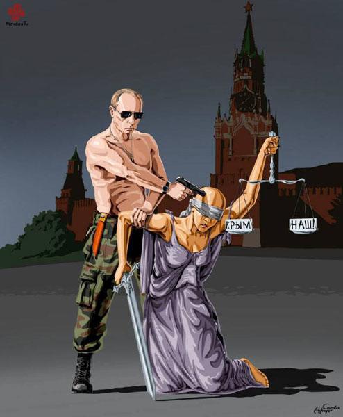 روسیه - حقوق بشر در نگاه طنز گوندوز آقایف