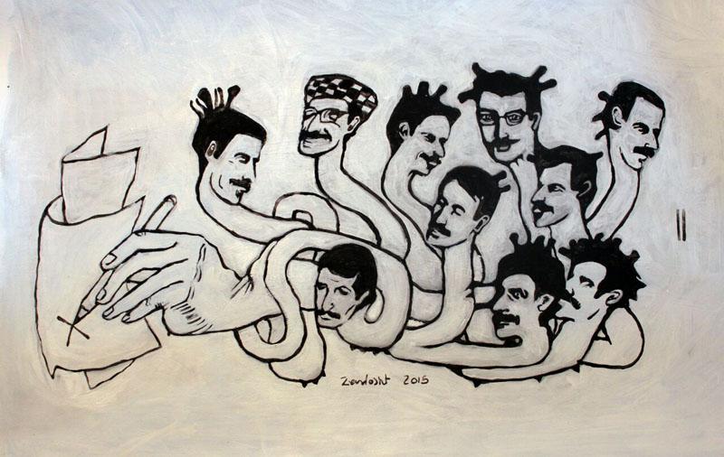 زرتشت رحیمی - نمایشگاه چند روایت از یک انسان که با امواج ارس به دریا پیوست
