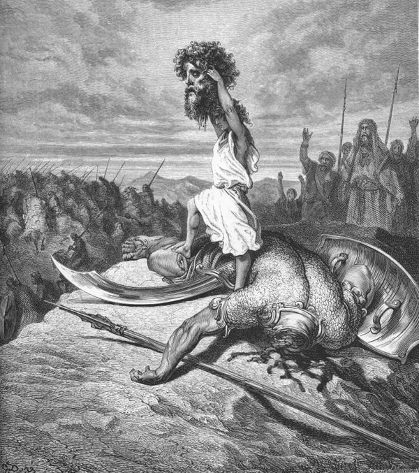 مبارزه داوود و جالوت به قلم بزرگان