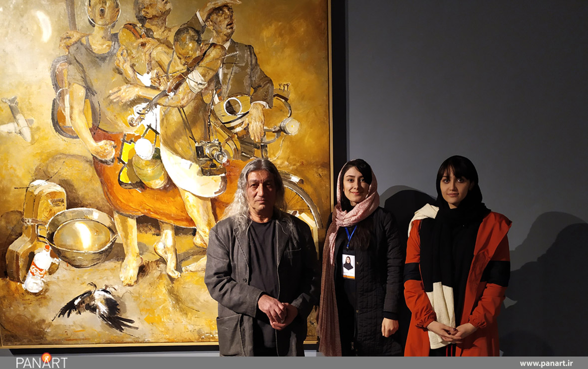 نمایشگاه نقاشی داوود زندیان در گالری ایرانشهر