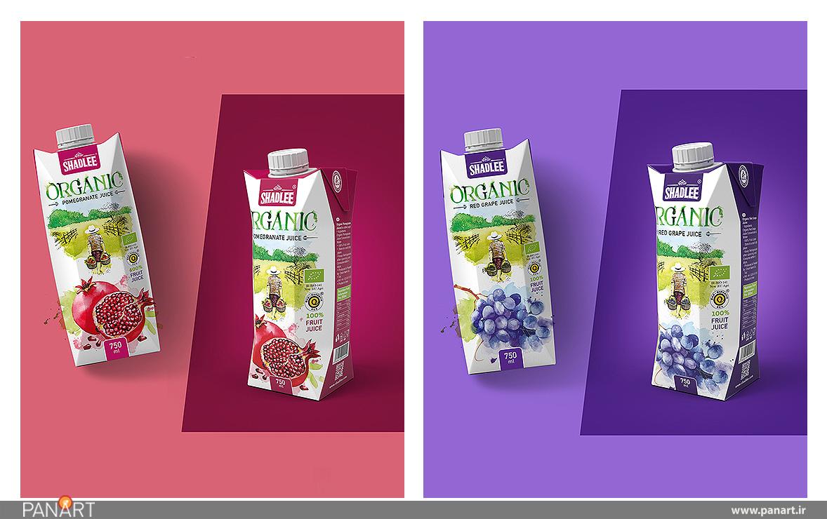 بسته بندی جذاب نوشیدنی های ارگانیک